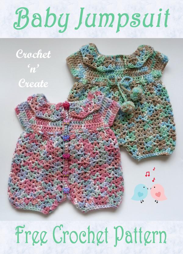 crochet baby jump suit