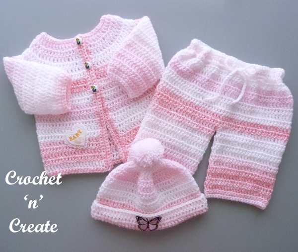 free crochet easy baby collection