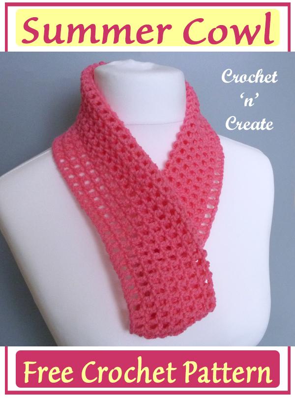 crochet summer cowl pattern