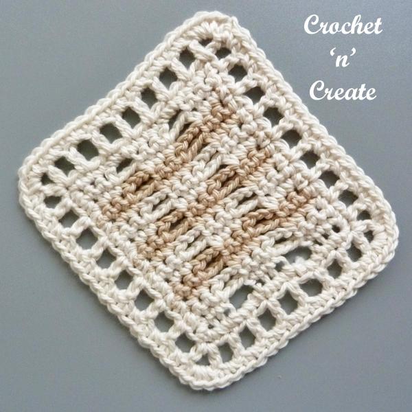 Free brown coaster pattern