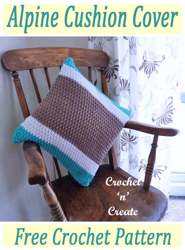 alpine crochet cushion cover