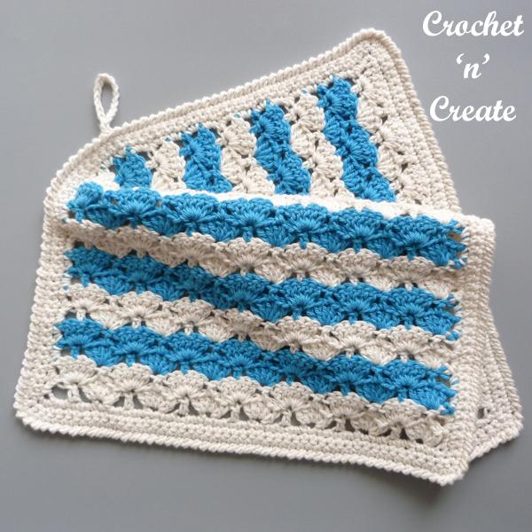 blue-cream towel