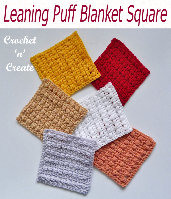 leaning puff blanket square