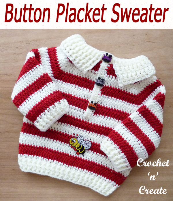 baby placket sweater