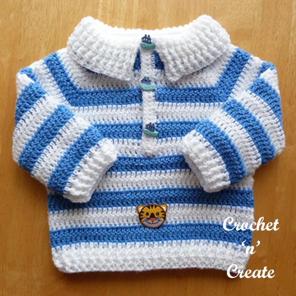 blue-white sweater