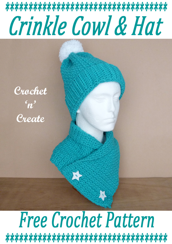 crochet crinkle cowl-hat