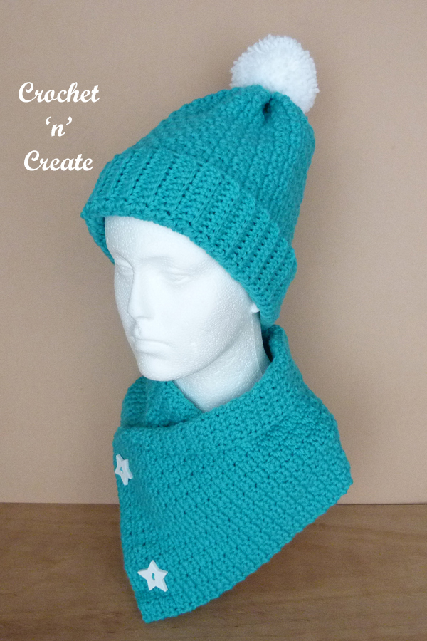 crinkle cowl and hat