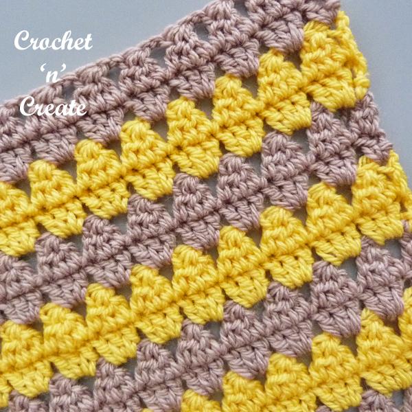 crochet diamond charm stitch