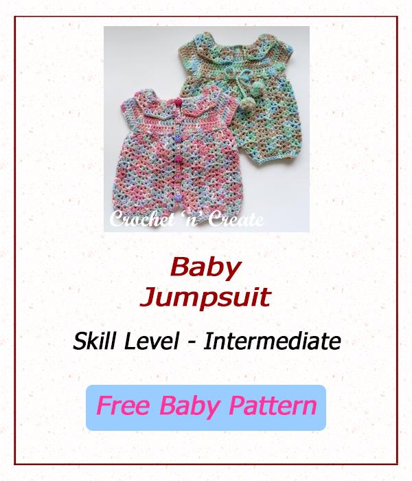 free crochet baby jumpsuit