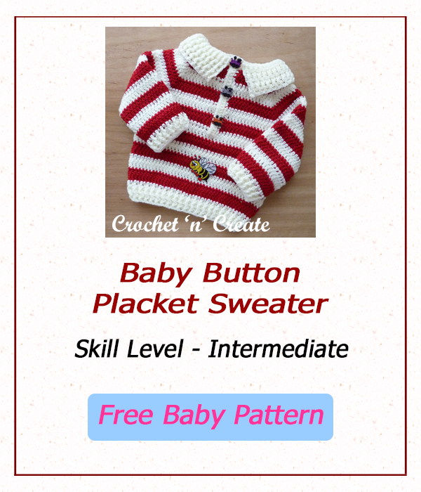 Free Baby button placket sweater