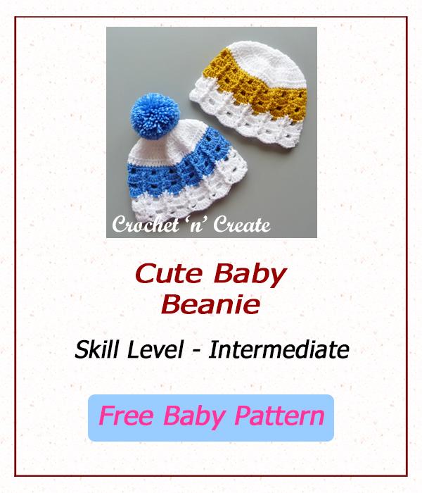 free cute baby beanie
