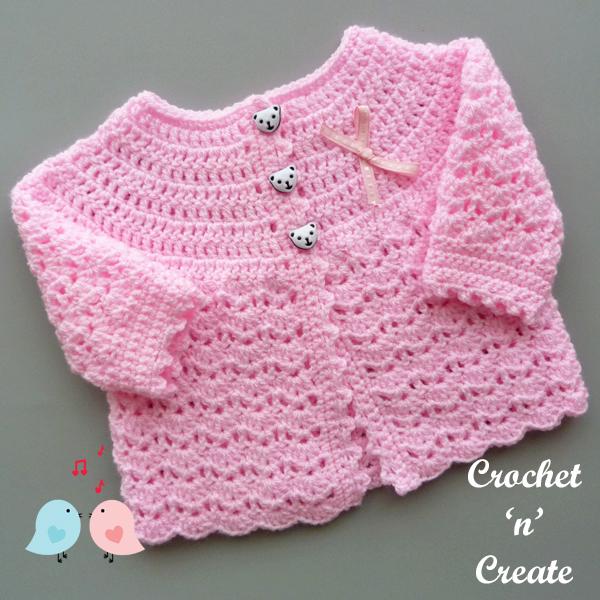 free baby crochet coat pattern