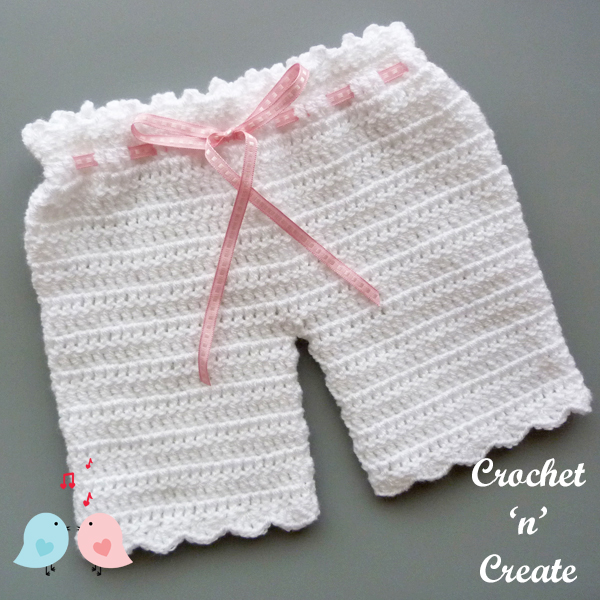 free baby crochet pants pattern