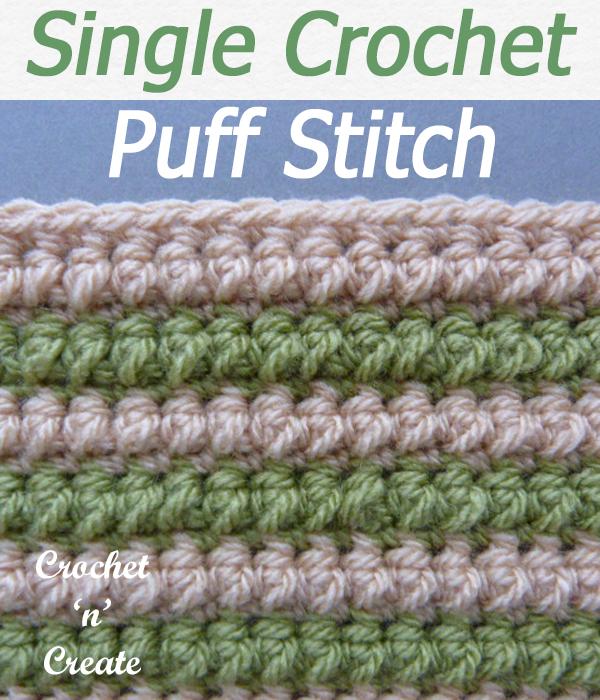 Single crochet puff stitch
