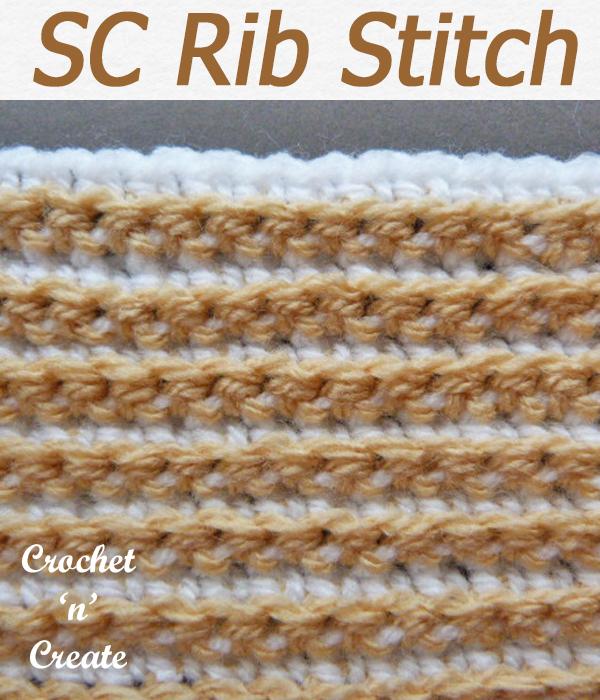 single crochet rib