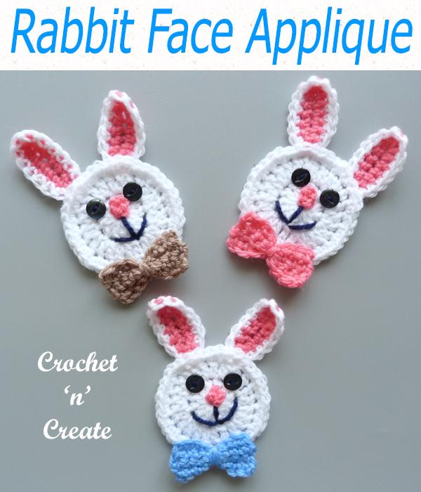 rabbit face applique
