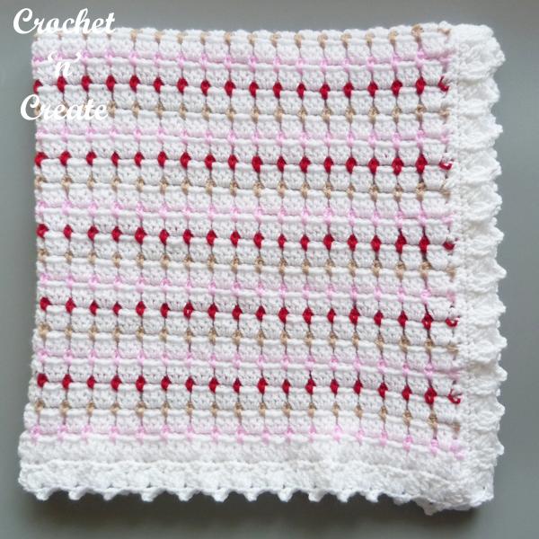 square folded baby blanket