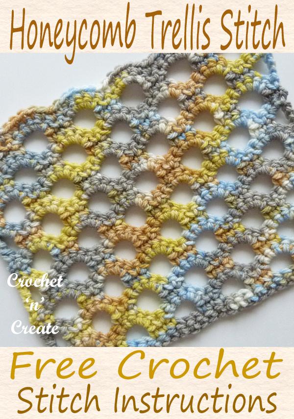 crochet honeycomb trellis tutorial