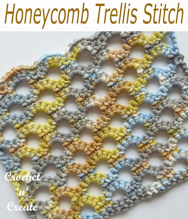 honeycomb trellis stitch