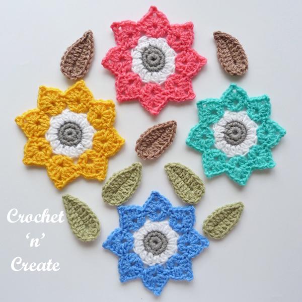 four colour flower