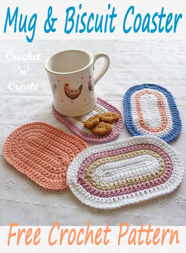 crochet mug-biscuit coaster