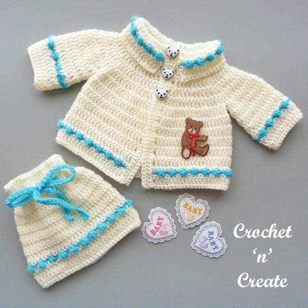 baby collared cardigan set