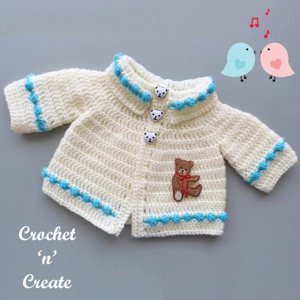 premature crochet cardigan