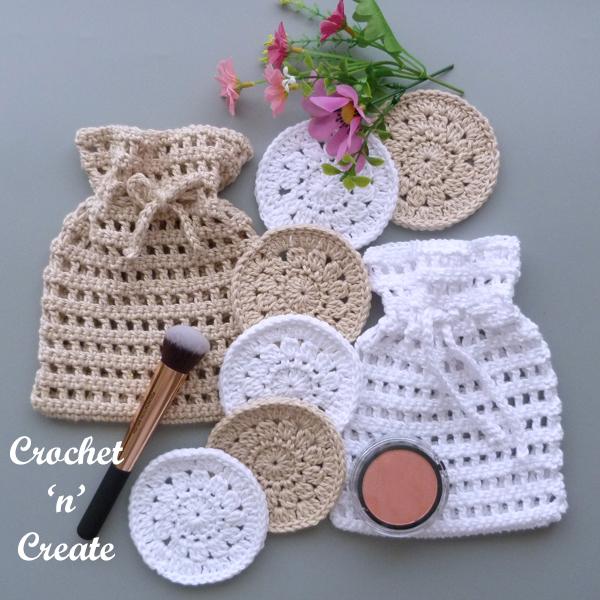 crochet scrubby holder set