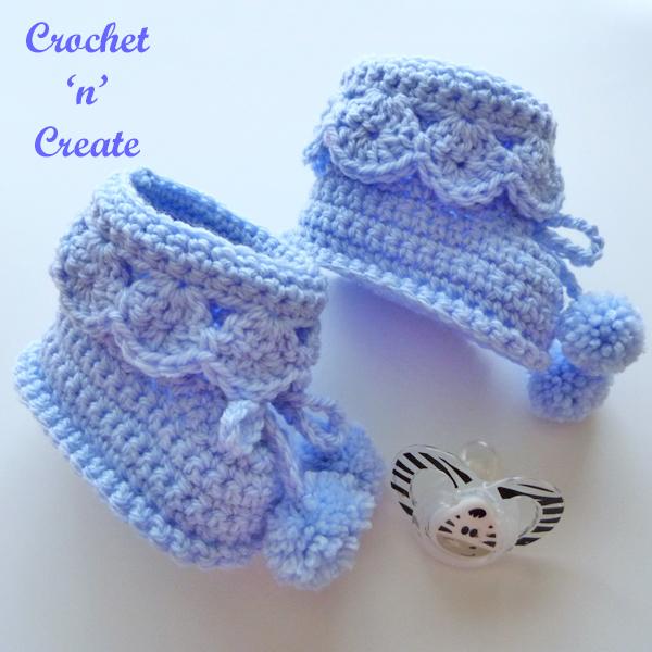 crochet baby posh booties