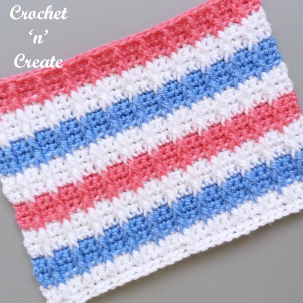 crochet bar stitch tutorial