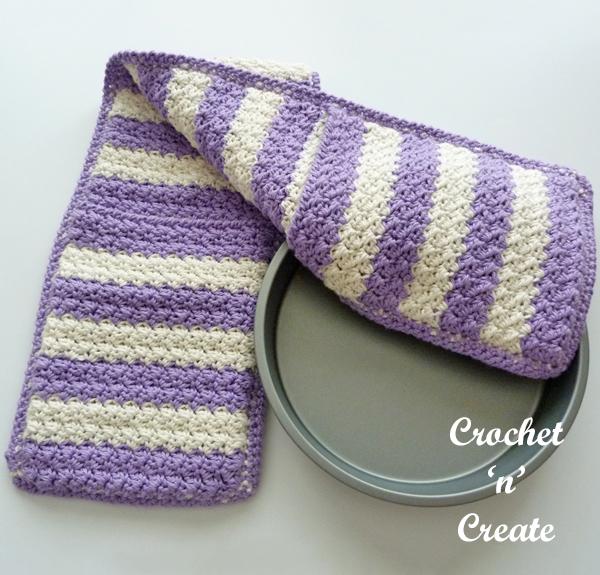 crochet double oven glove