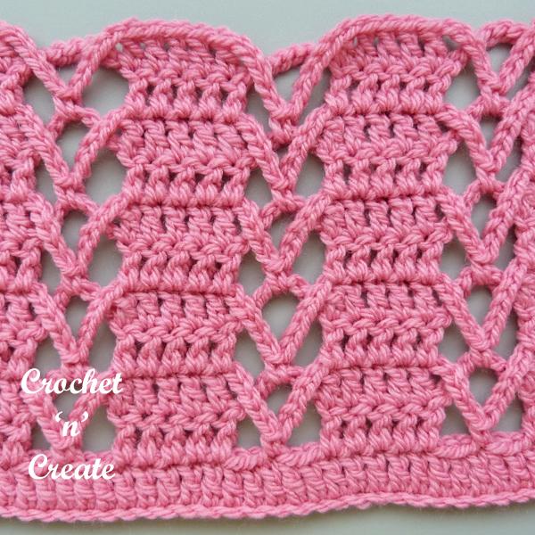 Pink lace stitch