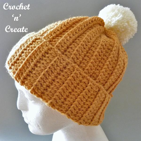 country rib crochet beanie