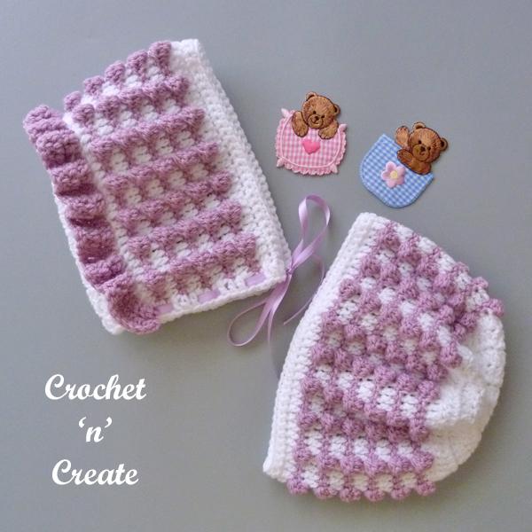 pebbles crochet baby hats